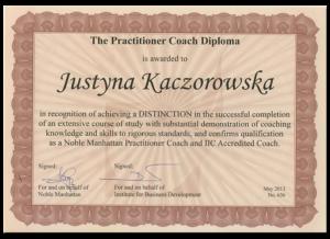 Certyfikat coacha II stopnia