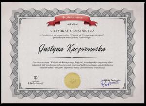 Certyfikat Wolność od wewnętrznego krytyka